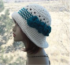 Check out this item in my Etsy shop https://www.etsy.com/listing/496574114/womens-sun-hat-crochet-flapper-hat