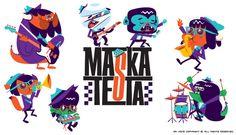 Maskatesta vinyl disc. by Mr. Kone, via Behance