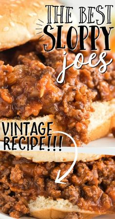 This homemade sloppy joes recipe has all the best parts of the classic recipe we loved as kids: perfectly seasoned meat, a toasted bun and a little messiness with every bite. It's an easy favorite for a party or a quick weeknight dinner. Classic Sloppy Joe Recipe, Classic Recipe, Beef Dishes, Food Dishes, Main Dishes, Side Dishes, Homemade Sloppy Joes, Best Homemade Sloppy Joe Recipe, Easy Sloppy Joes