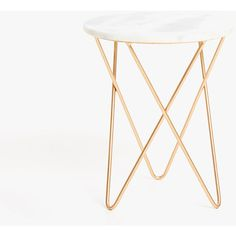 MARBLE TABLE WITH CROSSED METAL LEGS - FURNITURE - DECORATION | Zara... ($110) ❤ liked on Polyvore featuring home, furniture, tables, accent tables, marble table, marble furniture, metal leg table, metal legs furniture and zara home