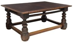 OVERSIZED TUSCAN FARMHOUSE DINING TABLE, 19TH C. : Lot 1055