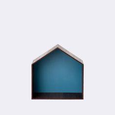 Blue wooden studio from Ferm living