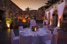 Sugar Mill Ruins Wedding Reception at Caneel Bay Resort