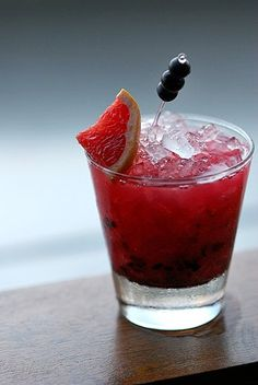 Bramble: A mixture of gin, lemon, fresh blackberries, and blackberry liqueur, the bramble is a classic Summer cocktail.