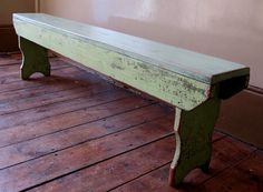 Wooden bench...I need to get my craftsman husband to do this.