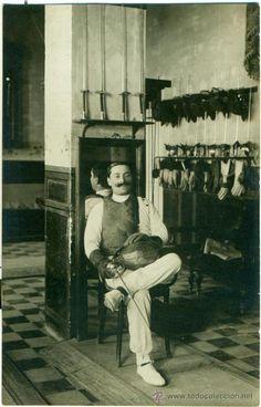 MELILLA. ENRIQUE BOSSINI. PROFESOR DE ESGRIMA MILITAR. 1913. FOTOGRÁFICA.
