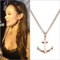 amazing actress sonja kirchberger wears the strawberry & cream rosegolden anchor chain