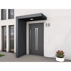 Modern Exterior Doors, Modern Entrance, House Entrance, Exterior Design, Front Door Awning, Front Door Canopy, Small Modern House Plans, Modern Porch, Door Design
