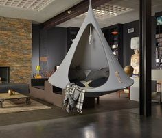 outdoor camping indoors.