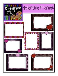 Freebie Clipart! This 12-piece freebie is a fun little mix of some bold borders and simple hearts :) Hope my followers are feelin' the love with this freebie! You are all so appreciated! Enjoy!