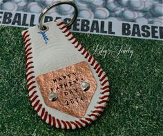 Baseball Dad Keychain Key Chain / Happy by YourRiley5Jewelry