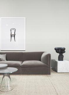 Minimalist living room, Lotta Agaton trends exhibition