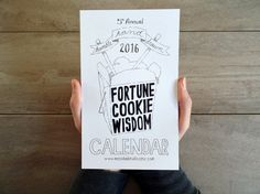 2016 Calendar 2016 Fortune Cookie Wisdom by MessyBedStudio on Etsy