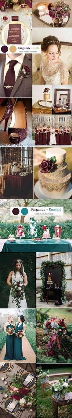burgundy fall wedding color ideas / http://www.deerpearlflowers.com/top-8-burgundy-wedding-color-palettes-youll-love/