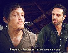 Norman & Andrew on the set TWD gif