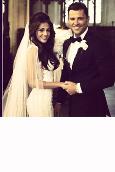 Michelle Keegan and Mark Wright on their wedding day...