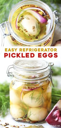 Pickled Eggs are a perfect lip-smacking snack or condiment for salad made from hard boiled eggs soaking in a sweet and tangy vinegar marinade. This old fashioned recipe is so easy and so good! Easy Salad Recipes, Easy Healthy Recipes, Appetizer Recipes, Snacks Recipes, Healthy Chef, Muffin Recipes, Vegetarian Recipes, 21 Day Fix, Quinoa