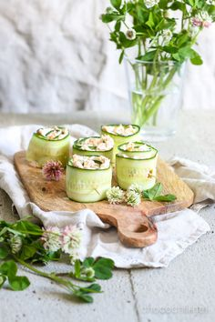 Vegan Carrot Lox Cucumber Rolls | Chocochili.net