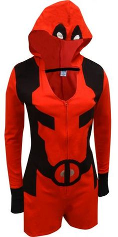 WebUndies.com Marvel Comics Deadpool Romper Onesie with Hood