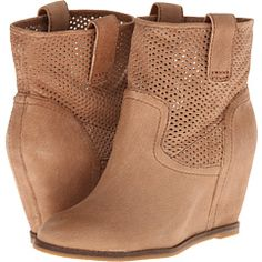 Lucky Brand Keno Suede Wedge Booties