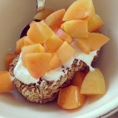 Weetabix, apricot, Greek yogurt