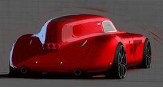 1938   Alfa Romeo 8C 2900B Le Mans Coupe Re-Design   Art by Yann Jarslalle (Renault Design Team)