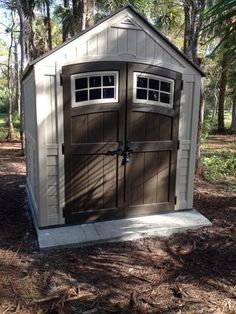 Suncast Sutton 7 ft. 3 in. x 7 ft. 4.5 in. Resin Storage Shed BMS7791 at The Home Depot - Mobile & Sutton 7 ft. 3 in. x 7 ft. 4.5 in. Resin Storage Shed Browns/Tans ...