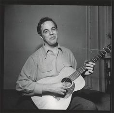Alan Lomax in '38.  Musicologist, archivist, performer Lomax, following in the footsteps of his father. John, recorded original blues and Appalachian folk artists and helped popularize both blues and folk music in the '40s and '50s.