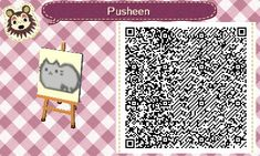 Pusheen - Animal Crossing New Leaf QR code - by Hannah