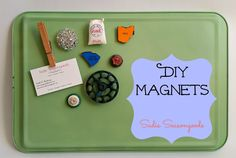 Think this is just another DIY Magnets tutorial? Well, think again- this one has lots of fun, handy tips! An easy craft anyone can do with just about anything around the house- vintage bits, buttons, puzzle pieces, jewelry, antique salvage, you name it! Upcycling fun! #SadieSeasongoods