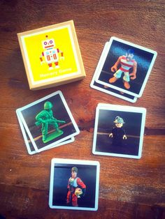 DIY gift: a fun, custom memory game using photos of favorite toys, LEGO minifigs, you name it.