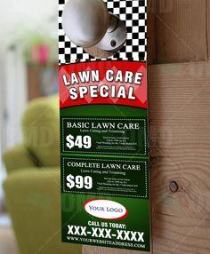 Lawn Care Marketing NEW door to door handouts. By The Lawn Market ...