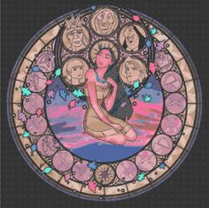 Cross Stitch Pattern for Pocahontas Kingdom Hearts Princess