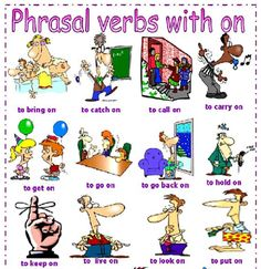 """1. To """"Get On"""" You normally """"get on"""" something so that you can travel. Examples of phrasal verb, """"Get On"""" 1. I'm going to..."""
