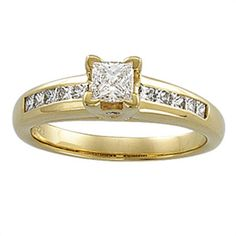 3/4 ct tw Diamond Engagement Ring with Fancy Accents | Matthew Erickson Jewelers
