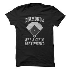 Diamonds Are A Girls Best Friends T Shirts, Hoodies. Check price ==► https://www.sunfrog.com/Sports/Diamonds-Are-A-Girls-Best-Friends.html?41382 $19