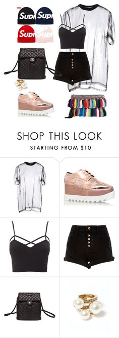 """""""Untitled #1"""" by fish-cy ❤ liked on Polyvore featuring Givenchy, STELLA McCARTNEY, Charlotte Russe, River Island, Chanel, Oscar de la Renta and Christophe Sauvat"""