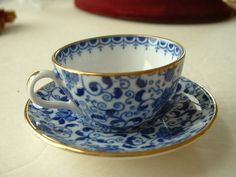 Miniature fine bone china mini cup and saucer, I have this one -- Old Spode