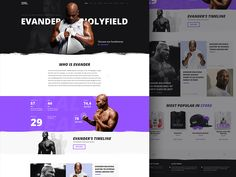 Landing page we are working on. I'm so excited about designing for such outstanding person like Evander!   Follow us on Twitter & Facebook & Instagram