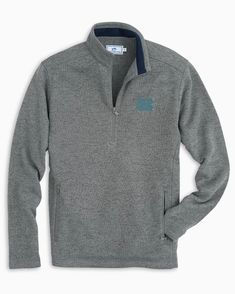 Temperatures start dropping as the season starts heating up. Keep out the chill in this Rebels quarter-zip fleece pullover. Featuring Ole Miss embroidery on the front left chest, designed with two front zip pockets. Unc Apparel, Ole Miss Tailgating, Southern Tide, Zip Sweater, Sports Shirts, Sweater Fashion, Pullover, Collection, Sweaters