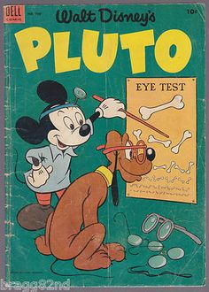 1953 Walt #Disney's PLUTO #509 comic book DELL 4-COLOR vintage #OPTOMETRY COVER