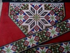 Loom Patterns, Cross Stitch Patterns, Bead Crafts, Diy And Crafts, Paper Snowflakes, Traditional Dresses, Beaded Embroidery, Norway, Stitches
