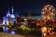 The bemusement park attracted 150,000 visitors from across the globe in the town of 75,000 people