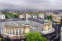 Heroes's Square Budapest Heroes' Square -along with Andrássy Avenue and the Millenium Underground Railway- have been listed on the UNESCO World Heritage List in the year Capital Of Hungary, Budapest, Paris Skyline, Spa, Europe, November 17, Mansions, Landscape, Country