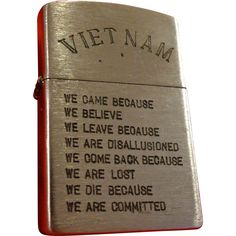 Vintage Vietnam Zippo Lighter Saigon Hanoi In Country Military Army USMC Infantry