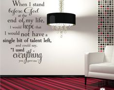 Wall Decal Quote Everything You Gave Me Erma by singlestonestudio