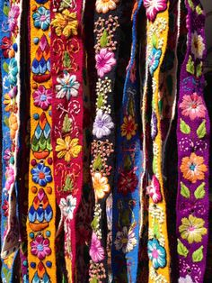 Hand Embroidered Belt by LobosDelMar on Etsy, $35.00