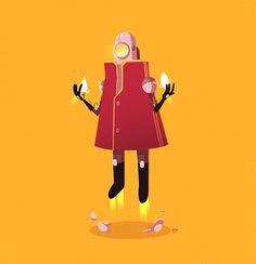 Animated GIFs n' stuff! by Ido Yehimovitz, via Behance