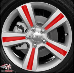 This image features the Dark Red print for your Jeep Compass rims. Rim Prints guarantees to instantly improve the look of your rims with powerful results! Go now to www.rimprints.com to choose your color and secure yours today! $149 for all 4 wheels