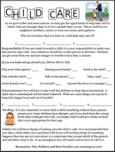 Worksheets Babysitting Worksheets babysitting worksheets bloggakuten 1000 images about me on pinterest babysitting
